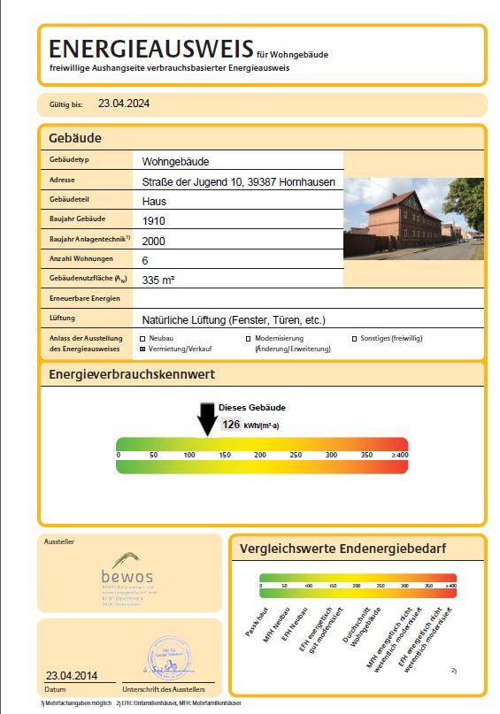 Wohnung/Mietwohnung in Oschersleben/OT Hornhausen